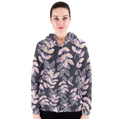 Winter Foliage Women s Zipper Hoodie