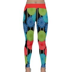 Vibrant Retro Pattern Yoga Leggings