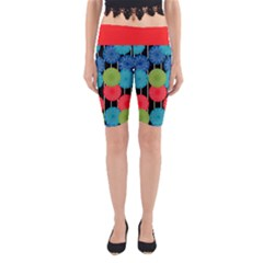 Vibrant Retro Pattern Yoga Cropped Leggings