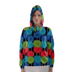 Vibrant Retro Pattern Hooded Wind Breaker (Women)