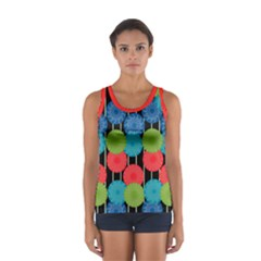 Vibrant Retro Pattern Women s Sport Tank Top