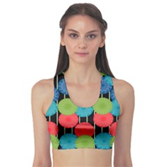 Vibrant Retro Pattern Sports Bra