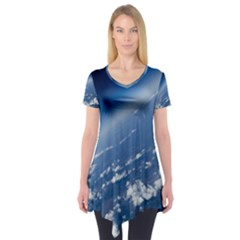 Space Photography Short Sleeve Tunic