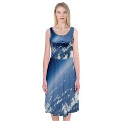 Space Photography Midi Sleeveless Dress