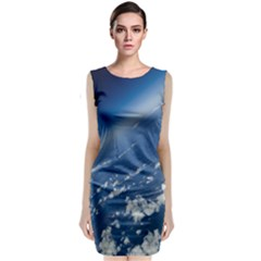 Space Photography Classic Sleeveless Midi Dress