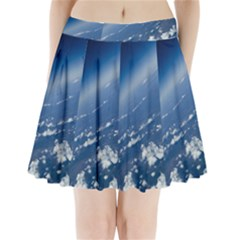 Space Photography Pleated Mini Skirt