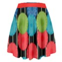 Vibrant Retro Pattern High Waist Skirt View2