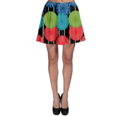 Vibrant Retro Pattern Skater Skirt
