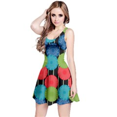 Vibrant Retro Pattern Reversible Sleeveless Dress