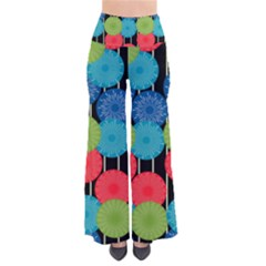 Vibrant Retro Pattern Women s Chic Palazzo Pants