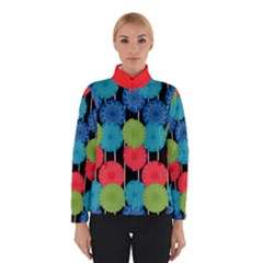 Vibrant Retro Pattern Winter Jacket