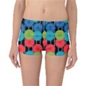 Vibrant Retro Pattern Boyleg Bikini Bottoms View1