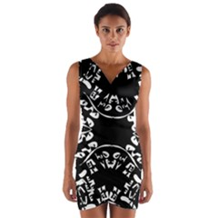 Plight Wrap Front Bodycon Dress