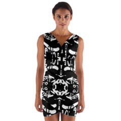 THE ONLY ONE IS FREE Wrap Front Bodycon Dress