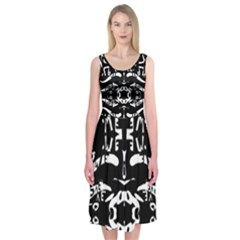 The Only One Is Free Midi Sleeveless Dress