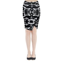 THE ONLY ONE IS FREE Midi Wrap Pencil Skirt