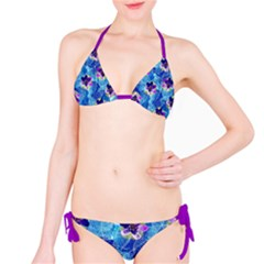 Purple Flowers Bikini