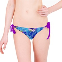 Purple Flowers Bikini Bottom