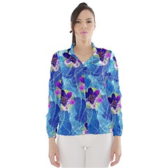 Purple Flowers Wind Breaker (Women)
