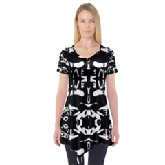 May 9 2016 100hhhl Kl; Short Sleeve Tunic