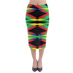 Space Net Midi Pencil Skirt