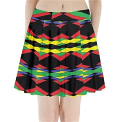 SPACE NET Pleated Mini Skirt