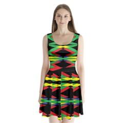 SPACE NET Split Back Mini Dress