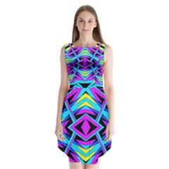 TIME WARP Sleeveless Chiffon Dress