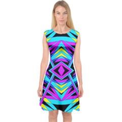 TIME WARP Capsleeve Midi Dress