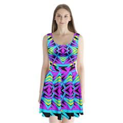 Time Warp Split Back Mini Dress