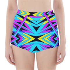 ART OFF WALL High-Waisted Bikini Bottoms