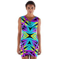 ART OFF WALL Wrap Front Bodycon Dress
