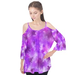 Purple Splatter Pattern Flutter Tees