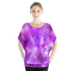 Purple Splatter Pattern Blouse