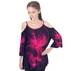 Pink Flame Fractal Pattern Flutter Tees