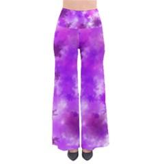 Purple Splatter Pattern Women s Chic Palazzo Pants