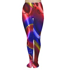 Pink Blue And Red Globe Women s Tights