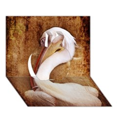 920 Pelican Apple 3d Greeting Card (7x5)