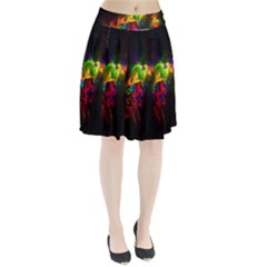 Bright Multi Coloured Fractal Pattern Pleated Skirt