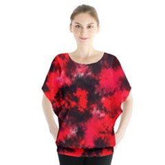 Black And Red Pattern Blouse