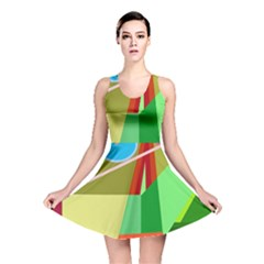Colorful abstraction Reversible Skater Dress