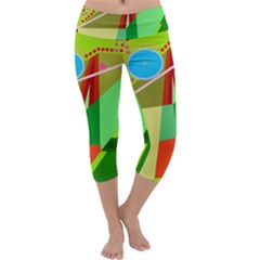 Colorful abstraction Capri Yoga Leggings
