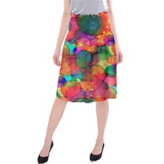 Rainbow Bubbles Midi Beach Skirt