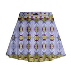 Soul Flower Mini Flare Skirt