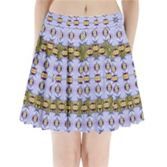 Soul Flower Pleated Mini Skirt