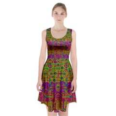 Carpe Diem In Rainbows Racerback Midi Dress