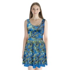 Scots Pine Split Back Mini Dress