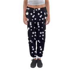 Black And White Starry Pattern Women s Jogger Sweatpants