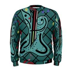 Blue guitar Men s Sweatshirt