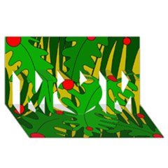 In the jungle MOM 3D Greeting Card (8x4)